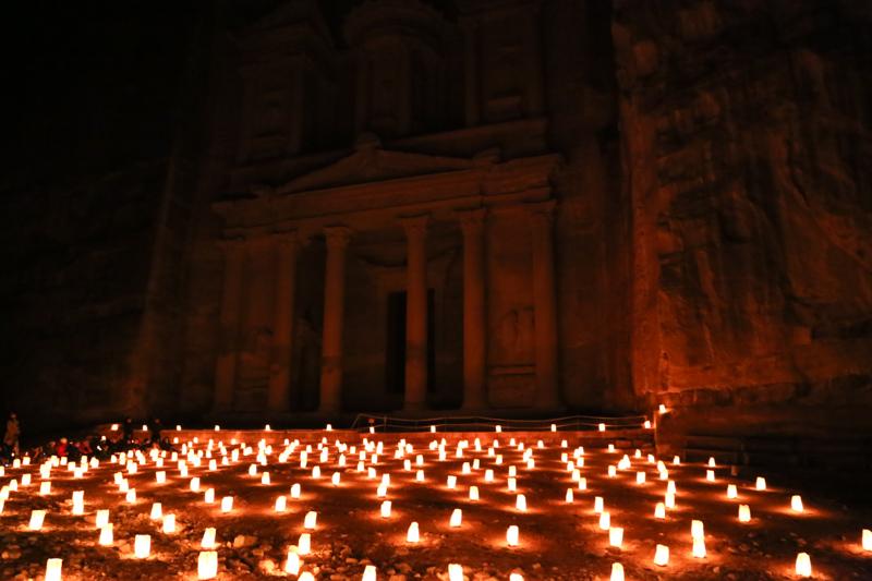42 Petra by Night