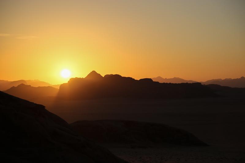 47 Sonnenuntergang im Wadi Rum